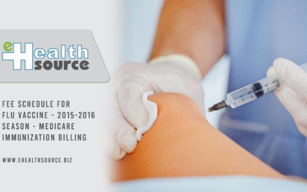 Fee Schedule for Flu Vaccine 2015-2016